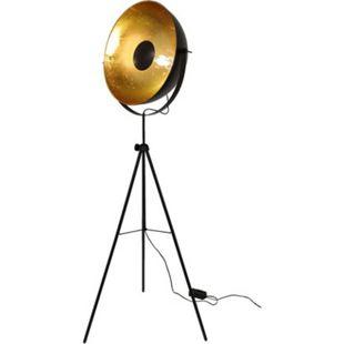 Retro Stehleuchte Dreibein Studioleuchte Big Alona schwarz & gold 10593 - Bild 1