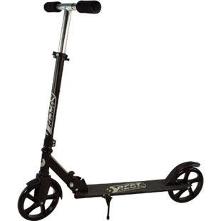 Best Sporting Scooter 200er Rolle klappbarer Kinderroller mit Ständer, schwarz - Bild 1