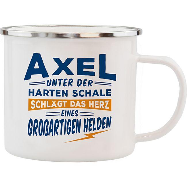 HTI-Living Echter Kerl Emaille Becher Axel - Bild 1