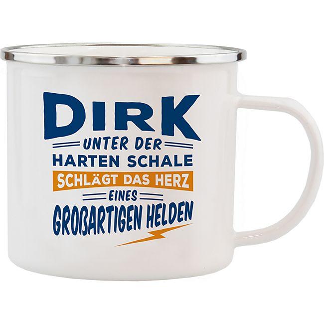 HTI-Living Echter Kerl Emaille Becher Dirk - Bild 1
