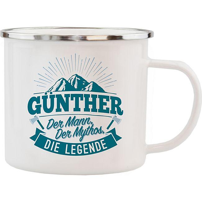 HTI-Living Echter Kerl Emaille Becher Günther - Bild 1