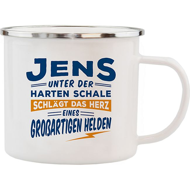 HTI-Living Echter Kerl Emaille Becher Jens - Bild 1