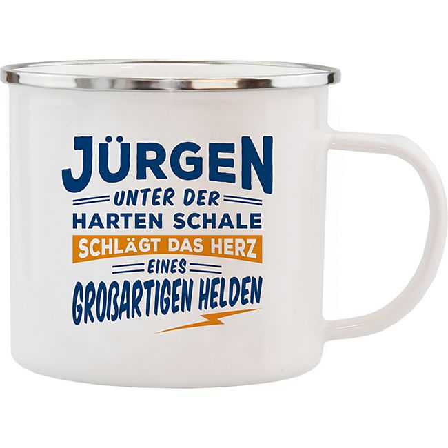HTI-Living Echter Kerl Emaille Becher Jürgen - Bild 1