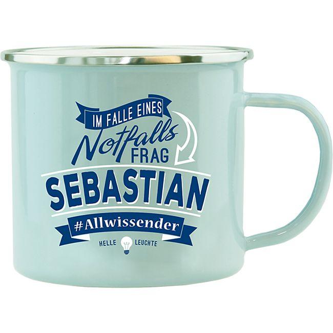HTI-Living Echter Kerl Emaille Becher Sebastian - Bild 1