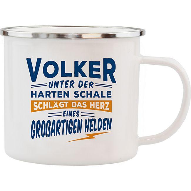 HTI-Living Echter Kerl Emaille Becher Volker - Bild 1