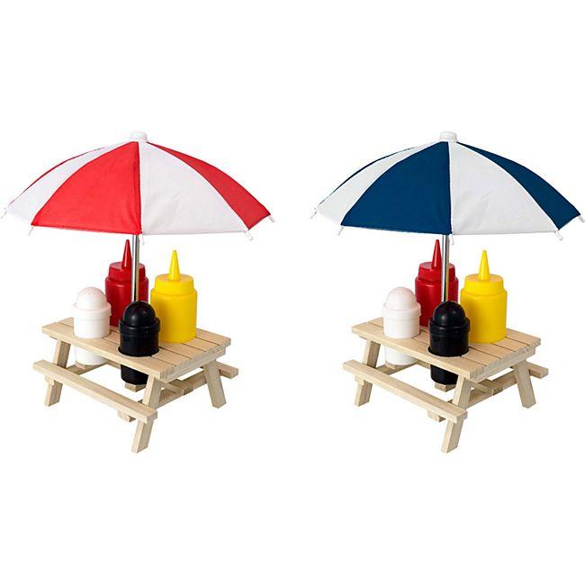 HTI-Living Menage Set 6-teilig Picknicktisch - Bild 1