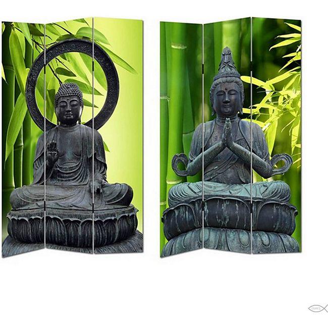HTI-Line Paravent Buddha 2 - Bild 1