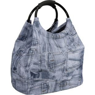 90717b0558a0 HTI-Living Shopping- und Strandtasche Jeanslook