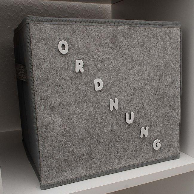 HTI-Line Aufbewahrungsbox Paloma mit Buchstaben - Bild 1
