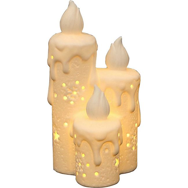 SIGRO Porzellan Windlicht Kerzen - Bild 1