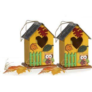 HTI-Living Vogelhaus 2er Set Eule - Bild 1
