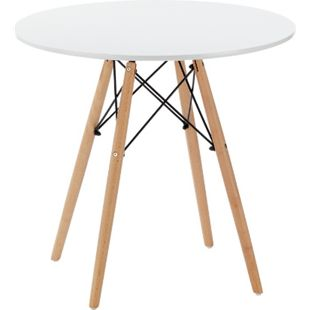 HTI-Living Tisch rund weiß - Bild 1
