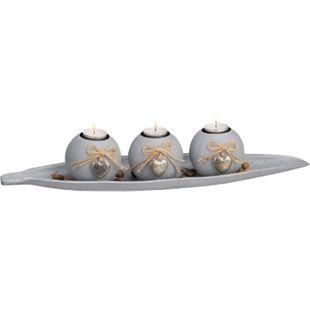 HTI-Living Teelichthalter Blatt - Bild 1