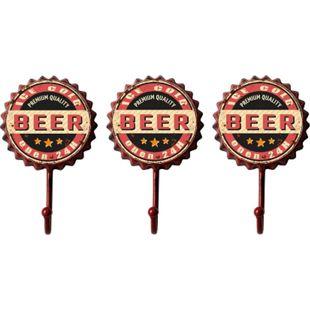 HTI-Line Garderobenhaken 3er Set Bier - Bild 1