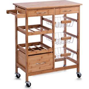HTI-Living Küchenrollwagen Bambus - Bild 1