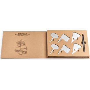 neuetischkultur Set zum Beschriften von Käsesorten Lieferung: 6 Edelstahl-Schildchen, 1 Stift - Bild 1