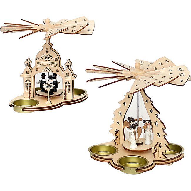 SIGRO Holz Pyramide Engel oder Kurrende - Bild 1