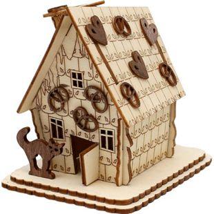 SIGRO Holz Laser-Räucherhaus Pfefferkuchen - Bild 1