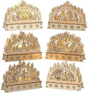 SIGRO Holz Mini Schwibbogen 1 Stück - Bild 1