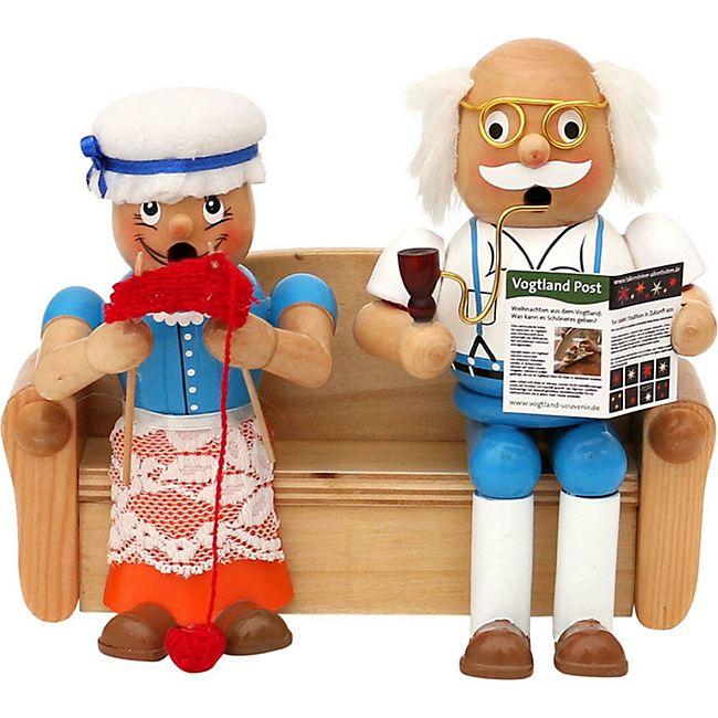 SIGRO Holz Räucherfigur Oma   Opa - Bild 1