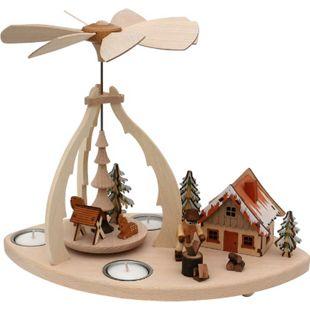 SIGRO Holz Teelicht-Tischpyramide Holzhacker - Bild 1
