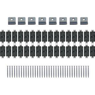 Gartenfreude WPC Verlegeset WPC Zubehör Verlegeset (8 x Start Clips/32 x Mittel-Clips mit Schrauben) - Bild 1
