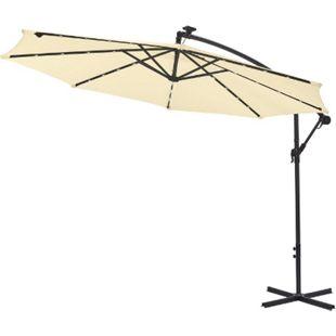 Gartenfreude Sonnenschutz LED Ampelschirm 300 cm - Bild 1