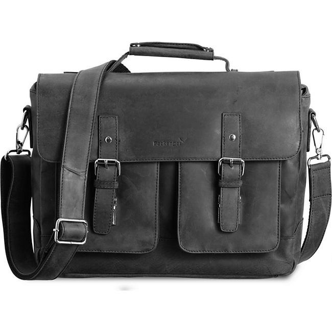"Packenger Ledertasche Kolbjorn Umhängetasche Messenger Bag bis 15"" (Leder) - Bild 1"