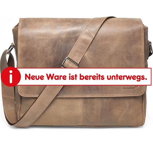 "Packenger Ledertasche Vethorn Umhängetasche  Messenger Bag bis  15"" (Leder) - Bild 1"