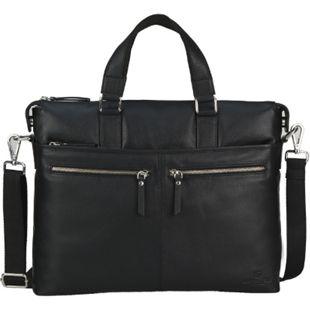 Packenger Ledertasche Bannisters Manhattan  Herrenhandtasche / Messenger Bag bis 13 Zoll aus Leder / Unisex / Handarbeit / 2 Nebenfächer auf der Vorderseite (Reißverschluss) - Bild 1