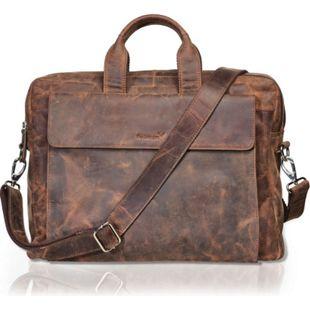 Packenger Ledertasche Packenger Odin  Herrenhandtasche / Messenger Bag bis 15 Zoll aus Leder / Unisex / Handarbeit / 2 Tragegriffe - Bild 1