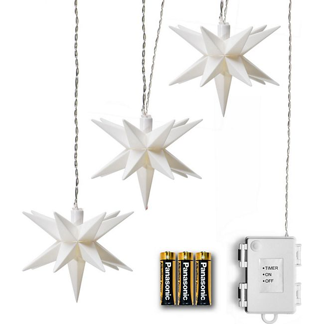 AMARE Lichterkette LED 3er Sternenkette - Bild 1