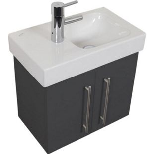 Keramag Waschbecken Waschtisch Icon XS 53 cm links in anthrazit seidenglanz - Bild 1