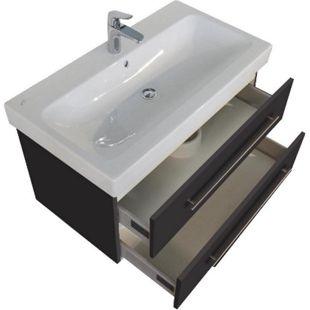 Keramag Waschbecken Waschtisch Icon 90 cm  in anthrazit seidenglanz - Bild 1