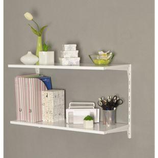 Element System Regal-Set Office 3 weiß Wandregal Ablage Wandboard Bücherregal - Bild 1
