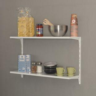 Element System Regal-Set Office weiß Wandregal Ablage Wandboard Bücherregal - Bild 1