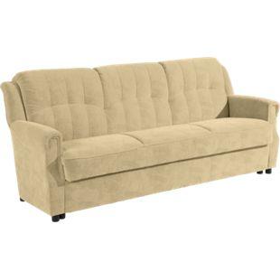 """Max Winzer """"Moldau"""" Sofa 3-Sitzer mit Bettfunktion Beige - Bild 1"""