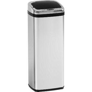 HOMCOM Automatik Mülleimer mit IR Sensor silber 33 x 25 x 84 cm (LxBxH) | Abfalleimer Kücheneimer Abfallsammler Müll Abfall - Bild 1