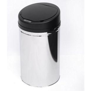 HOMCOM Abfalleimer mit IR Sensor und Inneneimer silber 30,5 x 30,5 x 55,5 cm (LxBxH) | Auomatik Mülleimer Kücheneimer mit Sensor Abfall - Bild 1