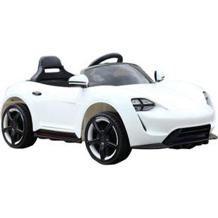 HOMCOM Kinderauto mit Fernbedienung weiß 115 x 65 x 50 cm (LxBxH) | Kinder Elektroauto Kinderfahrzeug Kinderwagen - Bild 1