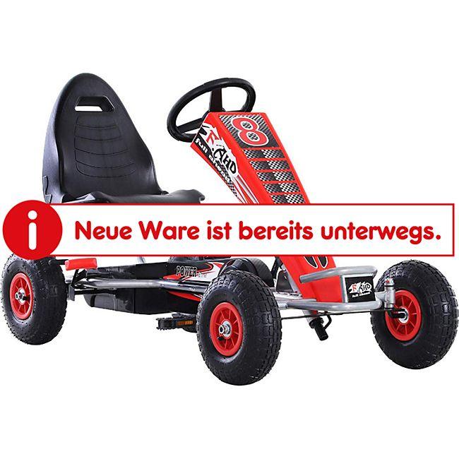 HOMCOM Go-Kart mit Handbremse rot 121 x 65 x 76 cm (LxBxH) | Tretauto Tretfahrzeug Kinderfahrzeug Spielzeug - Bild 1
