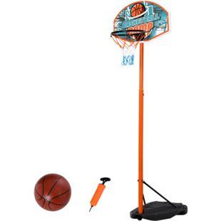 HOMCOM Basketballständer mit Ball mehrfarbig 66 x 10 x 180-230 cm (LxBxH) | Basketballkorb einstellbarer Ständer Kinderspielzeug - Bild 1