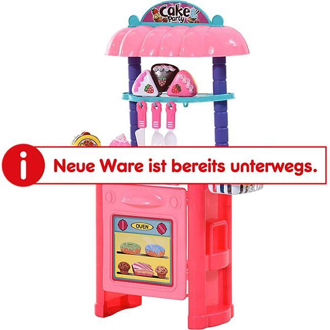 HOMCOM Kinder Spielküche Cake rosa 46 x 21,2 x 67 cm (LxBxH) | Spielzeugküche Kinderspielküche Spielzeug Kinderküche - Bild 1