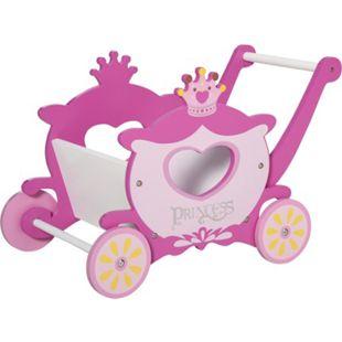 HOMCOM Einkaufswagen für Kinder rosa 57 x 33 x 37 cm (LxBxH) | Princess Kinderwagen Kinderspielzeug mit Stauraum - Bild 1