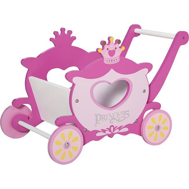 HOMCOM Einkaufswagen für Kinder rosa 57 x 33 x 37 cm (LxBxH)   Princess Kinderwagen Kinderspielzeug mit Stauraum - Bild 1