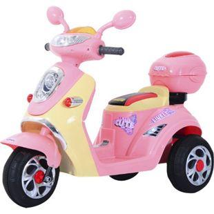 HOMCOM Kinderelektroroller rosa 108 x 51 x 75 cm (LxBxH) | Kindermotorrad Kinderauto Kinder Elektrotraktor - Bild 1