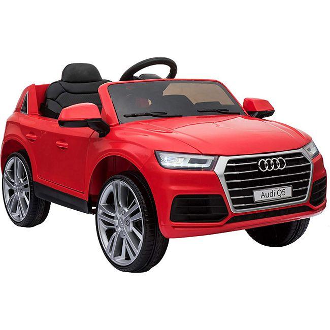 HOMCOM Audi Q5 Kinderauto mit Fernbedienung 116 x 75 x 56 cm (LxBxH) | Kinderfahrzeug Elektroauto Elektrowagen E-Auto - Bild 1