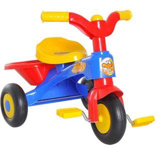 HOMCOM Kinderdreirad mit Ladefläche bunt 60 x 42 x 45 cm (LxBxH) | Dreirad Kinder Fahrrad Kinderfahrzeug Spielzeug - Bild 1