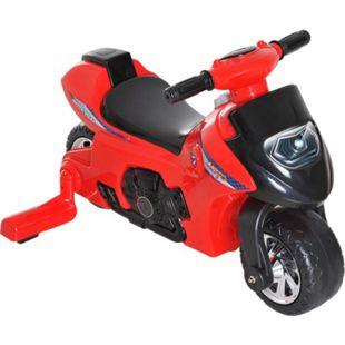 HOMCOM Rutscherfahrzeug als Motorrad rot 66 x 46 x 43 cm (LxBxH) | Kids Rutscher Motorrad Kinderspielzeug Laufbike - Bild 1