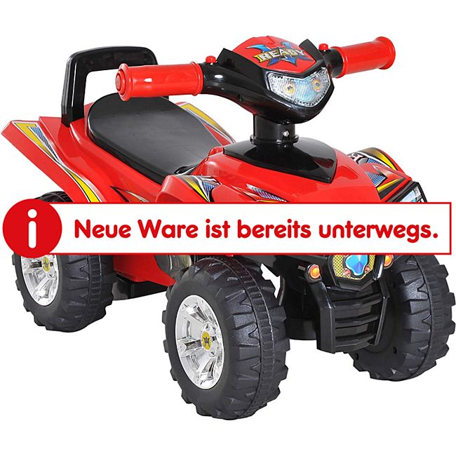 HOMCOM Rutscherfahrzeug als Geländewagen rot 60 x 38 x 42 cm (LxBxH)   Kids Rutscher Rutscherauto Kinderspielzeug - Bild 1